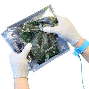 ESD PU Tip Carbon Glove