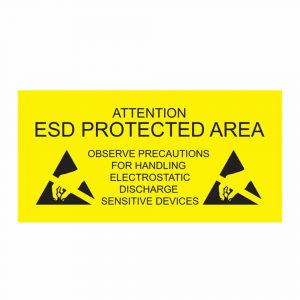 ESD Protected Area Sign - English