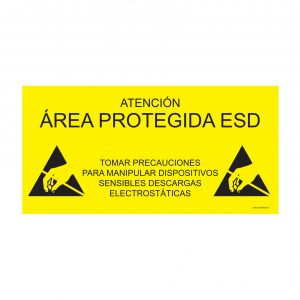ESD protected sign