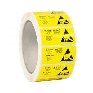 ESD Caution Label Multi Language