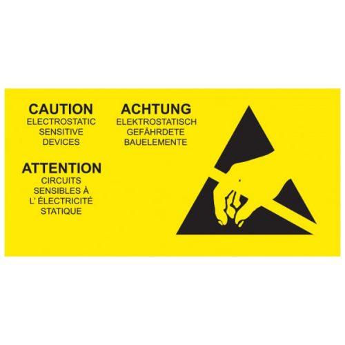 ANT055CLML-ESD-Caution-Label-Multi-Language