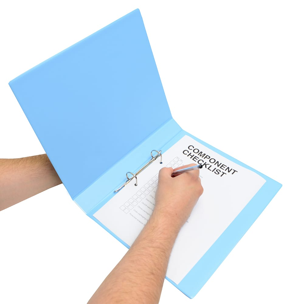 Anti-static ring binders