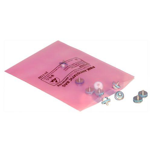 001-0001 – Pink Antistatic Bag – Open Top (02)