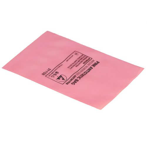 001-0001 – Pink antistatic bags – open top