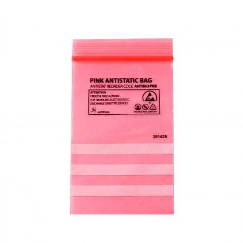 003-0001 – Pink Antistatic Bag – Reclosable (03)_