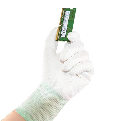ESD Pu palm glove detail